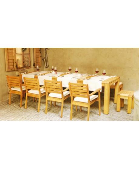 Stół Caro 220/300x100 Stół rozkładany 10 osobowy z akacji